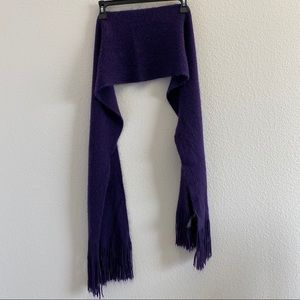 Purple Scarf with Fringe